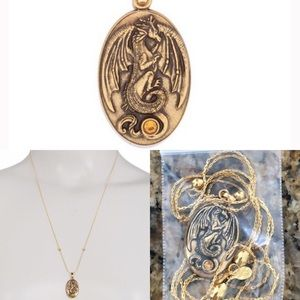 Alex and Ani Dragon Station Pendant Necklace